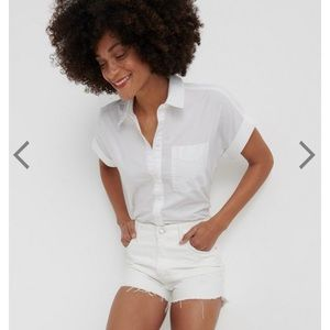 Lucky Brand Sasha Poplin short sleeve top size M